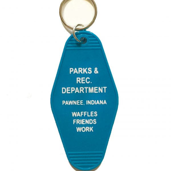 parks and recreation key tag