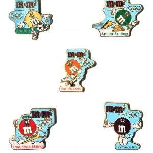 m&m's collector pins