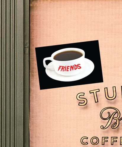Friends Sticker Show 90's Coffee