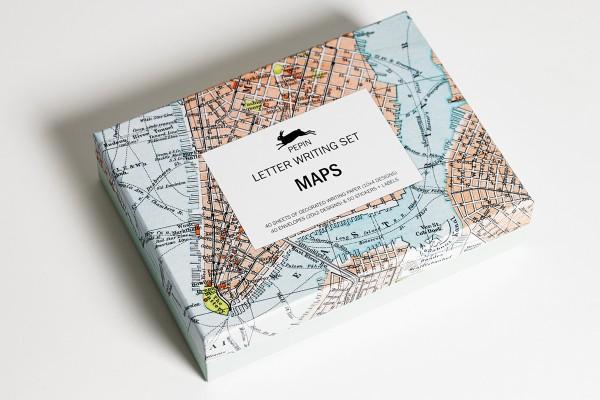 Maps Letter Writing Set   Greenwich Letterpress