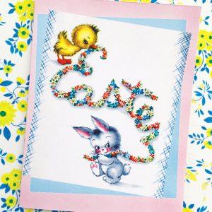 vintage inspired Easter card