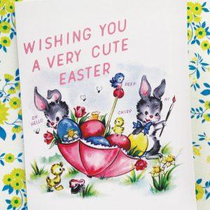 retro inspired Easter card
